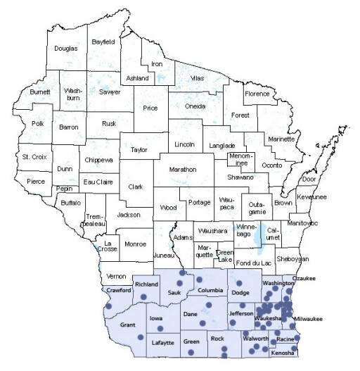 Episcopal Diocese of Milwaukee › Map of the Diocese
